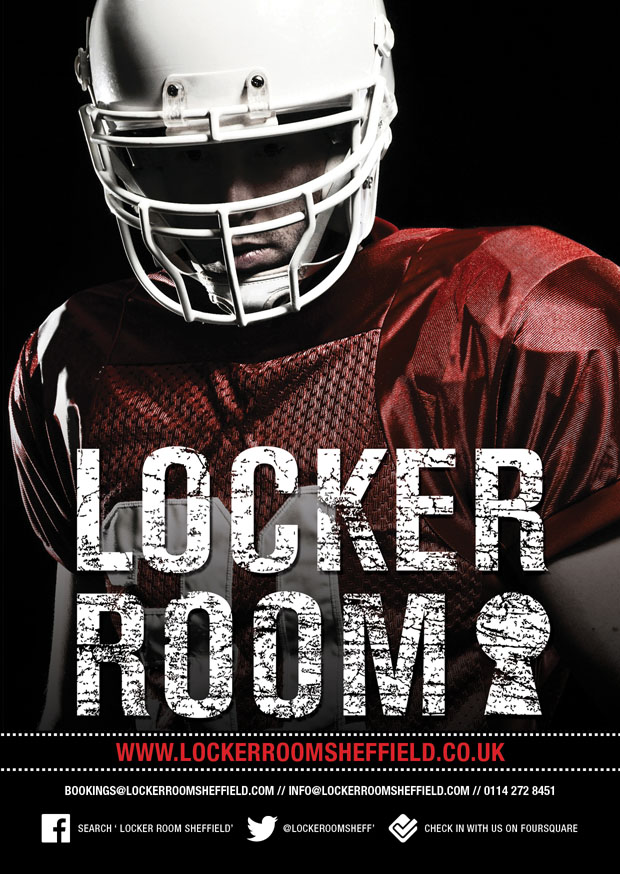 flyer design locker room sheffield