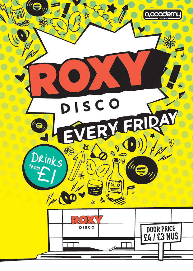 flyer design roxy disco sheffield